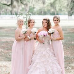 Pink Bridesmaids - Belle The Magazine