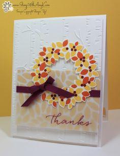 Wondrous Wreath - Stamp With Amy K - SU - Fall, Autumn