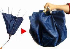 Como fazer um saco de um guarda-chuva quebrado