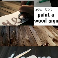 How to paint words on a wood sign diy projects wood signs, d Diy Projects To Try, Crafts To Do, Wood Projects, Woodworking Projects, Craft Projects, Diy Crafts, Craft Ideas, Woodworking Inspiration, Diy Ideas