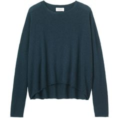 Toast Cashmere/Wool A-Line Pullover ($200) ❤ liked on Polyvore featuring tops, sweaters, navy, long wool sweater, navy blue cashmere sweater, navy blue pullover sweater, navy cashmere sweater and wool sweater