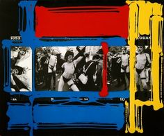 William Klein - painted contact sheets