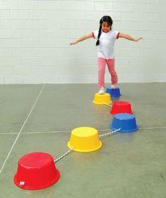Edx School Smart Stepping Buckets Balance Builders - 5 x 12 Inches - Set of 6 : Balance