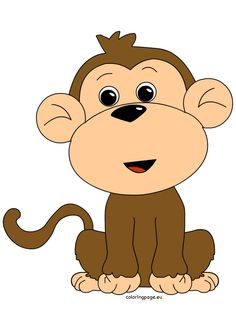 clip art of monkey monkey clipart - Clip Art. Monkey Template, White Teddy Bear, Baby Illustration, Animal Coloring Pages, Applique Quilts, Zoo Animals, Cute Cards, Colorful Pictures, Rock Art