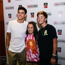 Jack Gilinsky, Aaliyah Mendes, and Jack Johnson (in order from left to right)