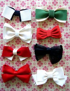 Bows bows bows oh look! theres bows in the pictur