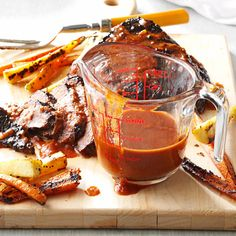 """Dr Pepper BBQ Sauce Recipe -My family is stationed in Italy with my husband, Lieutenant William Robert Blackman. William grew up in Memphis, Tennessee, and I'm from Texas, so the dish that spells """"home"""" for us is a good ol' barbecue. I have my own recipe for barbecue sauce that we like to pour all over sliced brisket. Eating it reminds us of weekend barbecues with our families. —Tina Blackman, Naples, Italy"""