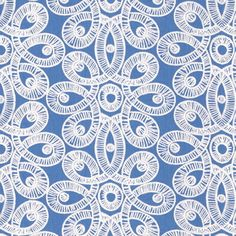 Lilly Pulitzer Lace Tide Blue Fabric Lee Jofa White Embroidery