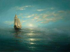 Mikhaïl Ivanenko  , 1960 painting marine    Mirage
