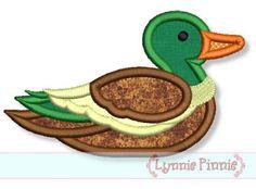 MALLARD DUCK Applique 4x4 5x7 Machine Embroidery Design  INSTANT Download by LynniePinnie on Etsy https://www.etsy.com/listing/108976431/mallard-duck-applique-4x4-5x7-machine