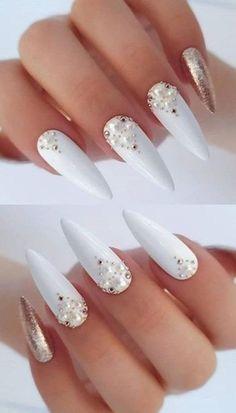 Stylish Nails, Trendy Nails, Dimond Nails, Nagel Bling, Gel Nagel Design, Stiletto Nail Art, Coffin Nails, Wedding Nails Design, Best Acrylic Nails