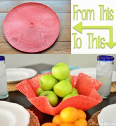 Quick  Easy DIY - Turn a Place Mat into a Decorative Bowl!