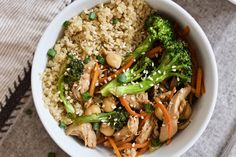 teriyaki chicken quinoa power bowl high in protein gluten free and healthy