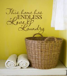 This home has endless love and laundry  Vinyl by VinylConcepts, $16.10