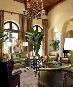 Mediterranean Living Room Design, Pictures, Remodel, Decor and Ideas - page 19