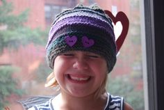 Handmade Color Blocking Knit Hat for Girls by TheCraftyEuropean, $28.00