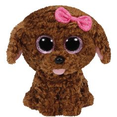 ffe70b07d9d Ty Beanie Boos MADDIE The Brown Dog with Bow 6