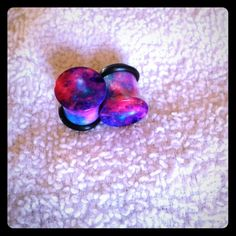 00g Acrylic Galaxy Plugs. Gauges Single flared acrylic 00g plugs with both O-Rings. Hot Topic Jewelry Earrings