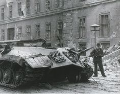 IS-3 destroyed by internal explosion during the Hungarian Uprising, 1956. Pin by Paolo Marzioli