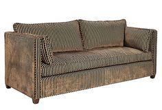 "Barclay Butera, Studio Sofa - 90""W x 38""D x 32""H; seat height, 20""  4899 - orig. 8780"