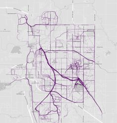 Where People Run by Nathan Yau Plano Mapa Flujos