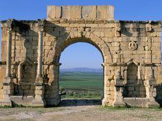 Site of Volubilis, Unesco World Heritage Site, Meknes Region, Morocco
