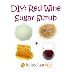 This scrub made with red wine is an excellent addition to your beauty rituals. The sugar gently exfoliates the skin, honey moisturizes and soothes dry skin. The red wine will improve blood circulat...