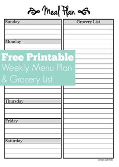 Free Meal Planner Template Inspiring Meal Planning Free Weekly Menu Planner Printable Of 27 top Free Meal Planner Templa Menu Planner Printable, Free Meal Planner, Weekly Menu Planners, Meal Planning Printable, Family Meal Planner, Family Calendar, Weekly Meal Plan Template, Meal Planner Template, List Template