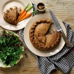 The Delicatessen - Rabbit, Apple and Cider pie from Norfolk, made with crunchy herb and mustard pastry.