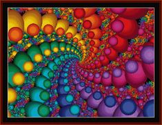 FR-348 - Fractal 348 - All cross stitch patterns - Abstract - Fractals - Graphic Art - Whimsical - Cross Stitch Collectibles