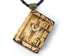Gorgeous Holy Bible Pendant with Christ's Cross. Handmade, hand carved pendant for those who love the Lord.