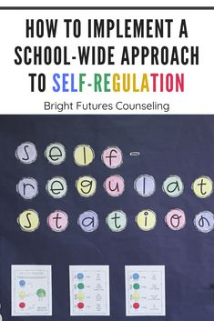 How to Implement a School-Wide Approach to Self-Regulation — Bright Futures Counseling Classroom Behavior Management, Behavior Plans, Behavior Charts, Elementary School Counseling, School Counselor, Elementary Schools, Emotional Regulation, Self Regulation, Emotional Development
