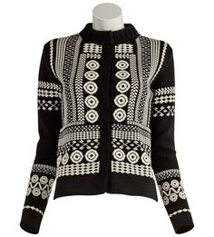 Chloé-Wool Knit Jacquard Cardigan ashlee@justoneeye.com