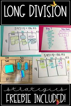 Long Division Strategies Part 1 - Will Teach For Tacos <br> Ahhhhh long division! The bane of many of our existence…only kind of kidding. But on a serious note…teaching division can be some pretty rough times. BUT it doesn't have to be that way! Many state standards now require teachers to teach wayyyy more than just the standard algorithm for long division because they want students to really build conceptual understanding instead of just memorizing steps! Common Core standards don't even…