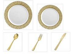 500 pieces WHITE w/ GOLD LACE Border China Plates and Gol... https://www.amazon.com/dp/B01INNSMX2/ref=cm_sw_r_pi_dp_x_EH5Rxb7XPGKYT