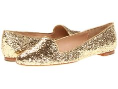 Kate Spade New York Trick Gold Glitter/Old Gold Metallic Nappa - 6pm.com
