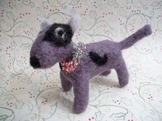 Small Plush Dog Felted Wool Pup Handmade Gift by FeltWithAHeart