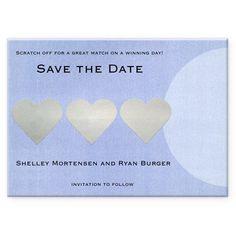 Scratch off save the date card