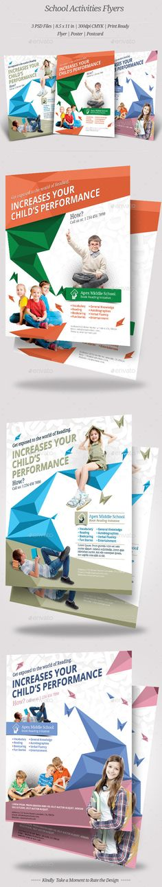 Perfect Flyer template for Middle School, Kindergarten, Daycare, preschool that needs clean, professional, modern template design. This can further customize for Poster or brochure.