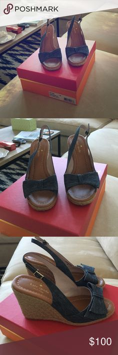 Kate spade boardwalk wedges size 7 Cute wedges worn less than 5 times. Perfect condition!! Very little wear even on the bottom. kate spade Shoes Wedges