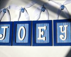 I have letters for Jeffrey's room... maybe I'll do this with them!