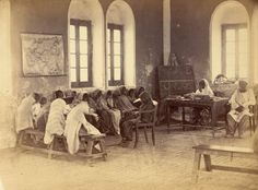 Extremely rare Photos of Karachi - A Girls' School in Karachi, 1873 - Old and rare Pictures of Karachi Rare Images, Rare Pictures, Rare Photos, Vintage Images, Old Photos, Colonial India, Indus Valley Civilization, Pakistan Travel, India Map