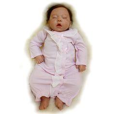 92.16$  Watch now - http://alipqm.worldwells.pw/go.php?t=32703499327 - Cute vivid silicone reborn baby doll newborn sleeping babies accompany dolls Children Kids toys for Girl Christmas birthday gift 92.16$