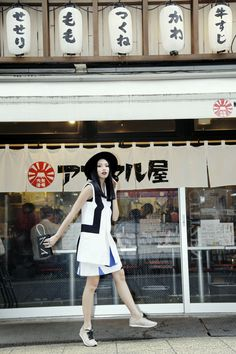 Olivia Lazuardy Street Style Fashion Japan with Kenzo b12f2d80eb421