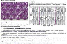 Ажурные узоры спицами со схемами и описанием  Вяжиру