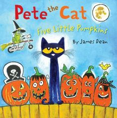 """Pete the Cat takes on the classic favorite children's song """"Five Little Pumpkins"""" in New York Times bestselling author James Dean's Pete the Cat: Five Little Pumpkins. Join Pete as he rocks out to this cool adaptation of the classic Halloween song!"""
