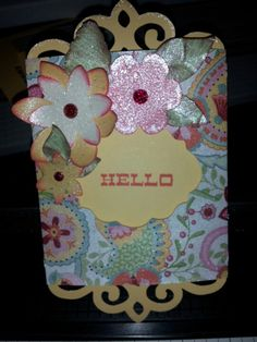 Slider card cut using artise cartridge and Chantilly paper from ctmh