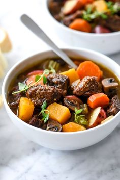 3 Beef Stew Crockpot Recipes to Welcome Fall the Right Way via @MyDomaine