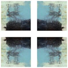 Oceans Reflected Stretched Canvas Art Set of 4 @Zinc_Door