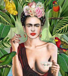 Frida con amigos by Nettsch